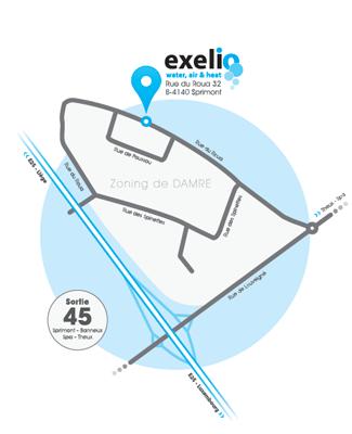 Plan d'acces Exelio